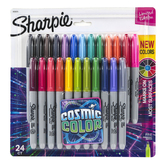 Sharpie, Cosmic Color Permanent Markers, Fine Point, 1 Each of 24 Colors