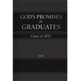 NIV God's Promises for Graduates: Class of 2021, by Jack Countryman, Hardcover, Black