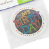Chalk Talk Collection, It's My Birthday Sticker Badges, 3 Inches, Multi-Colored Dots & Text, Pack of 36