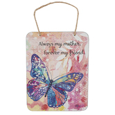 Ganz, Always My Mother Forever My Friend Butterfly Plaque, Metal, 5 1/4 x 7 inches