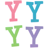 Glitter Foam Alphabet Letter Upper Case - Y, 4 x 5.5 x .50 Inches, 1 Each, Assorted Colors