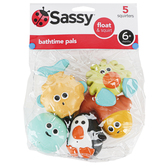 Sassy Developmental Toys, Bathtime Pals, 5 Pieces, Ages 6 Months & Older