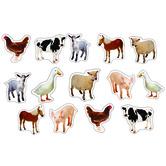 Carson Dellosa, Farm Animals: Photographic Shape Stickers, Multi-Colored, Pack of 84