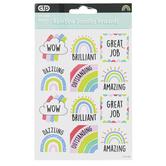 Creative Teaching Press, Rainbow Doodles Reward Stickers, 60 Stickers