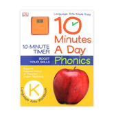 DK, 10 Minutes A Day Phonics Language Arts Workbook with Timer, Paperback, 80 Pages, Grade K