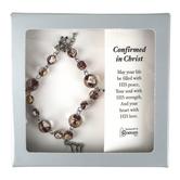 Roman, Inc, Confirmed In Christ Beaded Dove Bracelet, 6 1/2 inches
