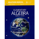 Master Books, Jacobs Elementary Algebra, Solutions Manual, Paperback, 276 Pages, Grades 9-10