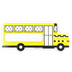 Schoolgirl Style, Black, White and Stylish Brights Bus Cut-Outs, Yellow, 5.8 x 2.5 Inches, 36 Pieces