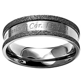 Spirit & Truth, 1 Corinthians 13:4-8, Love is Patient..., Champagne Finish, Women's Ring, Stainless Steel