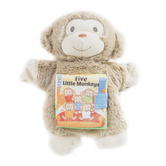 Demdaco, Five Little Monkeys Puppet and Book, Plush, 9 1/2 inches