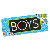 Isabella Collection, Boys Hall Pass, 3 x 6 Inches, Bright Multi-Colored