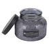 Darsee & Davids, Olive Oil, Thyme & Patchouli Embossed Jar Candle, Dark Gray, 18 ounces