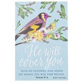 ThreeRoses, Psalm 91:4 Pass Along Cards, Pack of 10