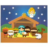 Brother Sister Design Studio, Christmas Crafts, Nativity Sticker Scene Craft Kit, 24 Pieces, Makes 12