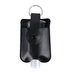 ID Avenue, Hand Sanitizer Holder with Keyring, Vegan Leather, Black, 4 x 3 inches