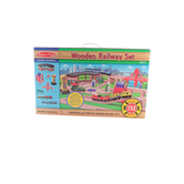Melissa & Doug, Wooden Railway Set, Wood, 132 Pieces, Ages 3 and Older