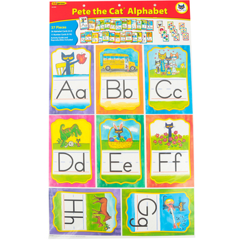 Edupress, Pete the Cat Alphabet Bulletin Board Set, Multi-colored, 37 Pieces