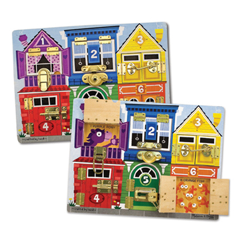 Melissa & Doug, Wooden Latches Board, Ages 3 to 6 Years Old, 1 Piece
