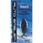 Small Silver Jesus Fish Auto Emblem
