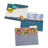 Pop Mania Collection, File Folders, 3 Multi-Colored Assorted Designs, 12 Count