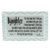 Dexsa, Daughter Glass Plaque, Glass, Grey, 6 x 4 Inches
