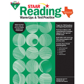Newmark Learning, STAAR Reading Warm-Up and Test Practice: Grade 6, Paperback, 144 Pages
