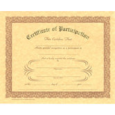 Berg, Participation Certificates, 8 x 10 inches, Set of 12