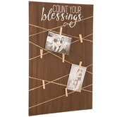 Count Your Blessings Memo Board, MDF Wood, 24 x 15 3/4 x 1/2 inches