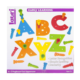 Play Monster, Tall-Stackers Pegs A to Z Pegboard Uppercase Set, 157 Pieces