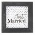 P. Graham Dunn, Just Married Tabletop Plaque, Wood, Black & White, 5 x 5 inches