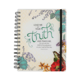 SoulScripts, Psalm 25:5 Elegant Floral Poly Cover Journal, 6 5/8 x 8 1/2 inches, 284 pages