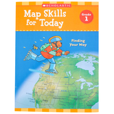 Scholastic, Map Skills for Today Grade 1: Finding Your Way Activity Book, Paperback, 48-Pages