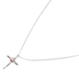 Dicksons, Come Rain Or Shine Prism Cross Necklace, 18 inch Chain