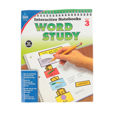 Carson-Dellosa, Interactive Notebooks Word Study Resource Book, Reproducible Paperback, Grade 3