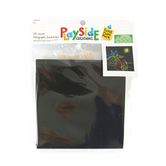 Playside Creations, Holographic Square Scratch Art Kit, 5 x 5 Inches, Black, 24 Count, Ages 5 and up