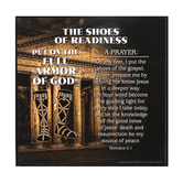 Dicksons, Ephesians 6:13-17 Armor of God Shoes of Readiness Plaque, MDF, 3 3/4 x 3 3/4 x 3/4 inches