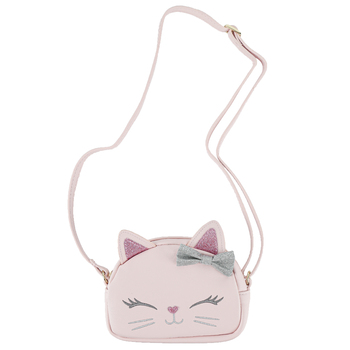Stephen Joseph, Cat Fashion Purse, Polyurethane & Polyester, Pink, 6 x 4 1/4 inches