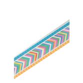 Renewing Minds, Wide Border Trim, 38 Feet, Striped Arrow, Multi-Colored