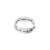 Dicksons, Proverbs 3:5 Wide Mobius, Women's Ring, Silver Plated, Sizes 6-9