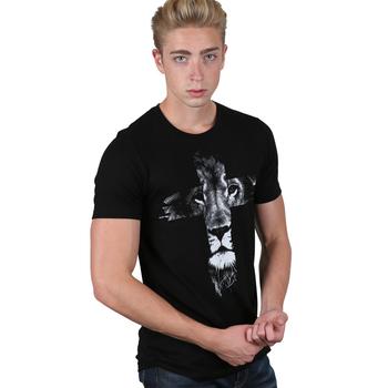 NOTW, Lion Cross, Men's Short Sleeve T-Shirt, Black, S-2XL