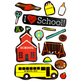 Chalk Talk Collection, I Love School Bulletin Board Set, 22 Pieces
