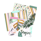 Imagine Believe Create File Folders, 3 Assorted Designs, Multi-Colored, 12 Count