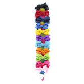 Bow Basics, Hair Bows With Holder, 1 3/4 x 3 x 3 1/2 inches Each, 1 Each of 12 Colors