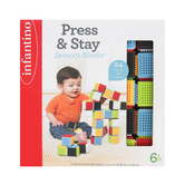 Infantino, Press & Stay Sensory Blocks, 24 Pieces, Ages 6 Months & Older