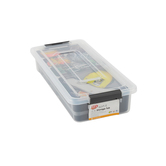 Ezy Storage, Sort It Storage Container with Cups, 13-7/8 x 6-1/8 x 2-5/8 Inches, 8 Pieces