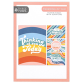 ThreeRoses, Retro Patterns Thinking of You Cards, 12 Count