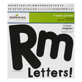 Renewing Minds, Bubble Bulletin Board Letters, Upper and Lowercase, 6 Inches, Black, 217 Pieces