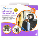 Dreambaby, Deluxe Adjustable Backseat Mirror, Black, 9 1/2 x 8 inches
