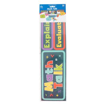 Carson-Dellosa, Math Talk Mini Bulletin Board Set, Multi-colored, 24 Pieces, Grades 1-5