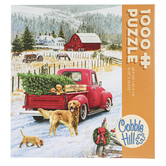 Outset Media, Cobble Hill, Christmas on the Farm Jigsaw Puzzle, 26 1/2 x 19 1/4 inches, 1000 Pieces